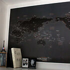 Black World Map Draw your Dreams around the World