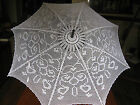 HAND CROCHET COTTON PARASOL - STANDARD UMBRELLA SIZE - UNIQUE HEIRLOOM HANDCRAFT