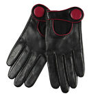 ELMA Genuine nappa leather Gloves cutout at back Gold Plated Logo