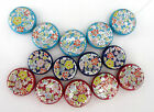 15 - 20pcs  28 24mm  Round Disc Beads Lovely Designe For Jewellery Crafts Making