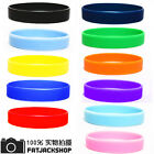 2Pcs Unisex Solid Silicone Rubber Wristband Cuff Bracelet Wrist Bands UK Listing