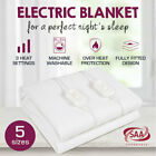Brand New Fully Fitted Smart Electric Blanket - Machine Washable  in All Sizes