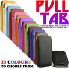 PU LEATHER SLIDE IN PULL TAB POUCH CASE FOR Samsung Galaxy Trend II Duos