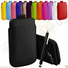 Small Size Pouch Premium PU Leather Pull Tab Case Cover For Nokia Asha 310
