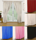 """ECLIPSE"" PAIR OF READY MADE SEMI BLACKOUT THERMAL CURTAINS LINING"