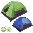 Yellowstone Camping Carnival Festival Tents Green or Blue 2 Man Summer Dome Tent