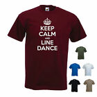 'Keep Calm and Line Dance' Western Dancer Dancing Funny T-shirt Tee Gift. S-XXL