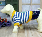 Pet Puppy Dog Clothes Clothing Hooded Striple + Hair Clip