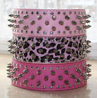 11 Colors Leather Dog Collar Spiked Studded Dog Collars Pitbull Terrier S M L XL