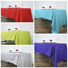 """60"""" x 126"""" Polyester Rectangular Tablecloth Wedding Catering Table Linens SALE"""
