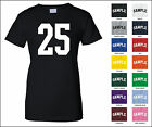 Number 25 Twenty Five Sports Number Woman's Jersey T-shirt Front Print