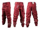 BOYS NEW ETO EB344 DESIGNER CUFFED RED CHINO JEANS. SIZES 24-29. *BARGAIN PRICE*