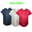 BOYS SHIRTS SOUL STAR SHORT SLEEVE SHIRTS WITH STARS PRINTED SIZES 2-8 YRS