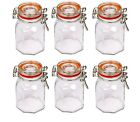 Glass Clip Top Airtight Clipseal Vintage Spice Herb Storage Jars 2 Free Seals