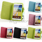 Wallet Cards PU Leather Flip Case Cover For Samsung Galaxy Note I9220 N7000 New
