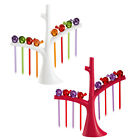 Koziol Pip Cute Bird Party Picks Set and Stand in White or Red