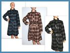 LADIES LONG TARTAN HIGH COLLAR PLAID WOOL  COAT JACKET SIZE S, L
