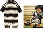 Baby STRIPE Romper - BLACK & WHITE Fashion Bodysuit (NEW COOL DESIGN CHARACTER)