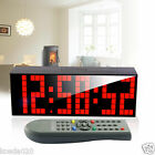 Large Remote Led Digital Wall Clock Table Duai Alarm Timer Stopwatch Snooze Gift