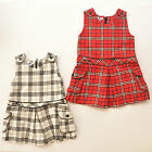 toMean Baby Girls/Toddler Checked Tweed Pinafore Dress Size 6M/9M/18M/24M