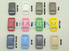 "12pcs 3/8"" Webbing Contoured Curved Buckles for 550 Paracord Bracelets Colored"