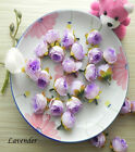 100 X Roses Artificial Silk Flower Heads Wholesale Lots Wedding decor F-35