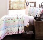 Wild Rose Enchantment Patchwork 100% Cotton Quilt Set, Bedspread, Coverlet image