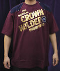 NEW AUTHENTIC MEN'S CROWN HOLDER BURGUNDY / GOLD / NAVY COLORS T-SHIRTS