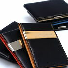 New Wallet Money Clip Credit Card & I.D Card Holder Faux Leather Free Shipping