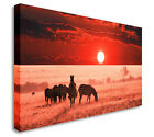 Panoramic Safari Sunset 40x20inches City Wall Picture Canvas Art Cheap Print