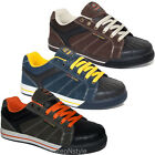 MENS GROUNDWORK SAFETY SHOES STEEL TOE CAP LACE UP WORK TRAINERS