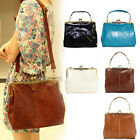 Retro Vintage Lady PU leather shoulder handbag Satchel Cross Body Tote bag purse