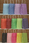 10Pcs Candy Color Polka dot Bakery Sweet Dessert Cake Bag Party Gift Paper bags