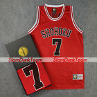 SLAM DUNK Cosplay Costume Shohoku School Basketball #7 Miyagi Replica Jersey RED