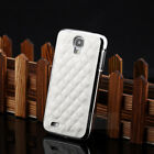 Luxury PU Leather Chrome Hard Case Cover For Samsung Galaxy S4 SIV i9500