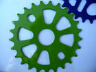 25T BMX SPROCKETS FOR SINGLE SPEED CRANKS BLUE,  GREEN,  GOLD * FREE SHIPPING