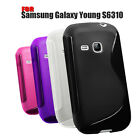 4 COLOUR SOFT RUBBER GEL MOBILE PHONE CASE COVER FOR SAMSUNG GALAXY YOUNG S6310