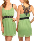 Women Going Out Summer Party Dress Size 8 S, 10 M, 12 L NEW Green White Purple