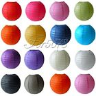 "10 Round Paper Lanterns Lamp Wedding Birthday Party Decoration 8"" 10"" 12"" 14"""
