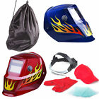 Auto Darkening Solar Welding Helmet Mask Adjustable Delay Grinding Mode FLAME