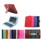 PU Leather Keyboard Case for 7' inch', 9'', 9.7'', 10''  inch Android Tablet Pc