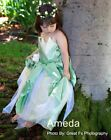 Halloween Xmas Girls Deluxe Tiana Frog Costume Princess Green Party Dress 3-8Y
