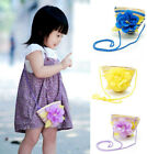Sweet Baby Children Kid's Girl's Flower Straw Messenger Bag Party Gift