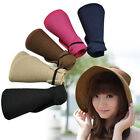 Chic Wide Large Brim Summer Beach Sun Visor Foldable Straw Women Ladies Hat