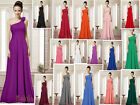 Unique One Shoulder Bridesmaid Party Prom Evening Dresses Formal Gowns Size 6-26