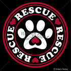 RESCUE PAW 2 COLORS Vinyl Decal dog adopt love spay neuter cat car sticker K293