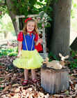 Halloween Xmas Girls Snow White Pettidress Party Dress Princess Costume 1-6Y