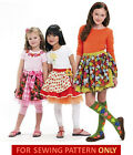 SEWING PATTERN! MAKE BOUTIQUE STYLE SKIRTS~LEGGINGS! CHILD 3 TO GIRL 14! SCHOOL