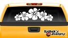 Hibiscus Flowers #4 Vinyl Decal Hawaiian floral style beach sun car sticker F034