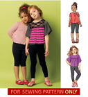 SALE! SEWING PATTERN! MAKE GIRLS TOPS~LEGGINGS! SIZES 2~5 OR 6-8! SCHOOL CLOTHES